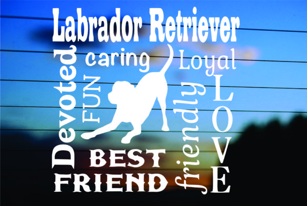 Labrador Subway Art Car Decal Sticker