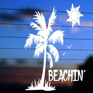 A-0034                    Beachin'                  Size #2         Category - Beach & Tropical Decals