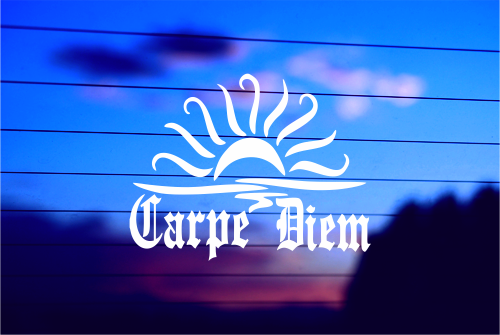 CARPE DIEM CAR DECAL STICKER