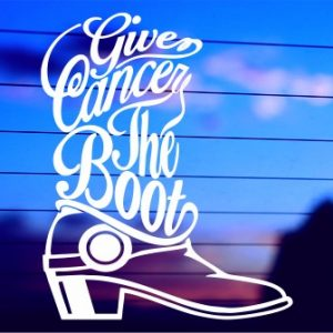 0172 Give Cancer The Boot (500 x 335)