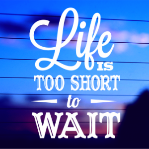 0179                Life is too Short to Wait