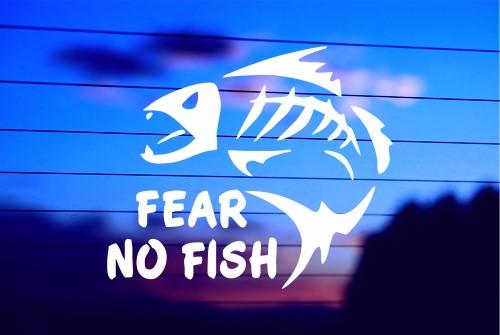 Fear no fish bonefish car decal sticker for Fear no fish