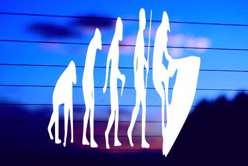 EVOLUTION OF MAN – JET SKI CAR DECAL STICKER