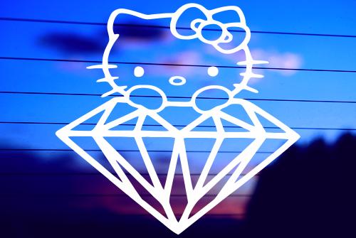 HELLO KITTY DIAMOND CAR DECAL STICKER