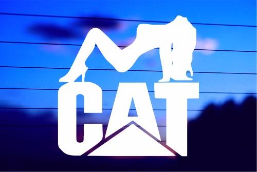 CAT SEXY CAR DECAL STICKER