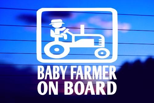 Baby Fermier à Bord Autocollant Vinyle Autocollant