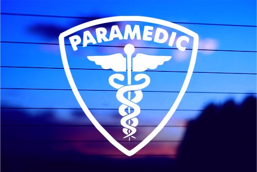 paramedic shield with symbol car decal sticker rh sunsetgd com paramedic logo vector free paramedic logo vector free