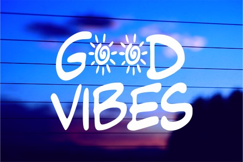 GOOD VIBES CAR DECAL STICKER