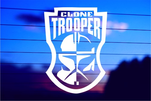 STAR WARS CLONE TROOPER CAR DECAL STICKER