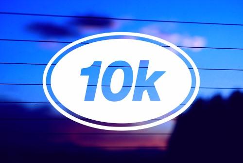 RUNNING 10k CAR DECAL STICKER