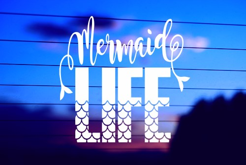 MERMAID LIFE 1 CAR DECAL STICKER