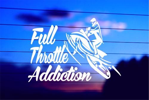 """FULL THROTTLE ADDICTION"" CAR DECAL STICKER"