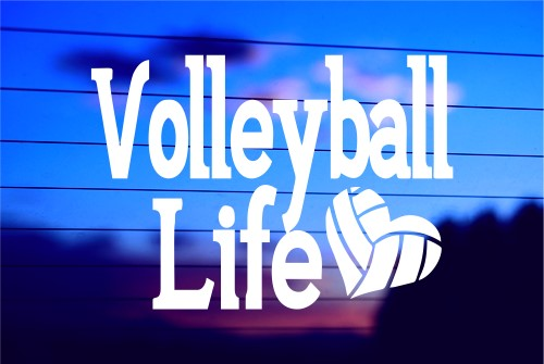 Volleyball Life Car Decal Sticker