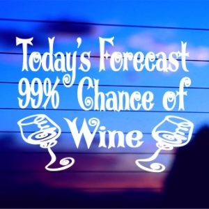 A-0320 Todays Forecast 99% Chance of Wine (500 x 335)