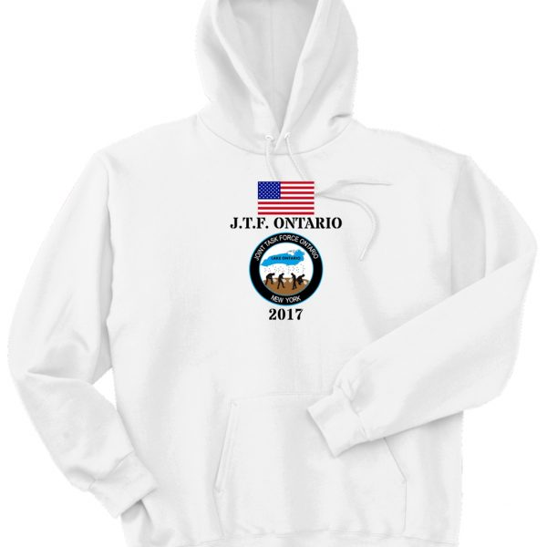 OPERATION LAKE ONTARIO-PROUDLY SERVED-NATIONAL GUARD HOODED SWEATSHIRT