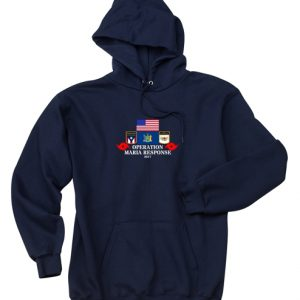 opma navy hoodie front