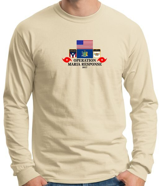 OPERATION MARIA-IRMA-PROUDLY SERVED-NATIONAL GUARD-T-SHIRT LONG SLEEVE T-SHIRT