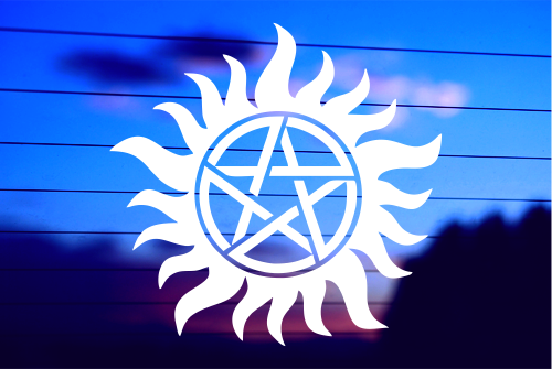 Supernatural Anti-Possession Symbol Vinyl Car Decal Sticker