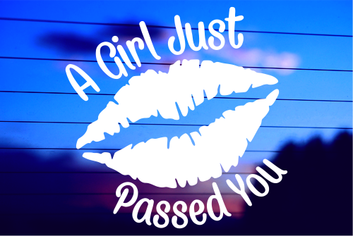 A Girl Just Passed You Vinyl Car Decal Sticker