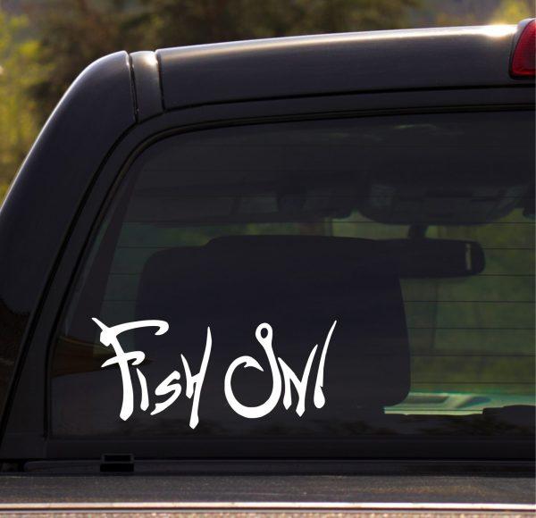 Fish On High Quality Vinyl Car Decal Sticker
